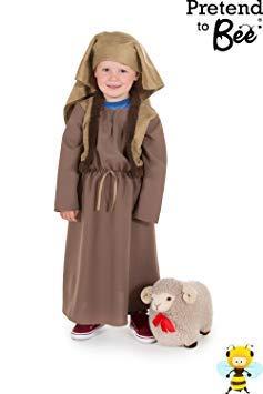 Kostüm Mädchen Shepherd - Shepherd Weihnachtskrippe-Kostüm für Mädchen, Größe 5-7Jahre