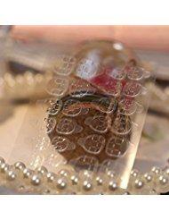 50 ou 30 feuilles/lot Double-côté Colle Autocollant Transparent Flexible Faux Ongles Conseils Adhésif Nail Colle (50pcs)