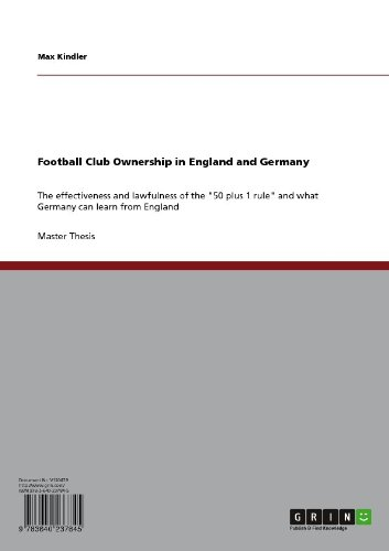 Football Club Ownership in England and Germany (English Edition ...