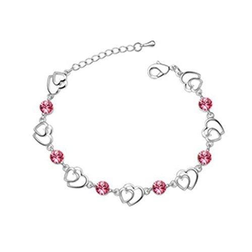 beydodo-bracelet-en-plaqu-or-blanc-pour-les-femmes-link-braceletscristal-dautriche-coeur-damour-rose