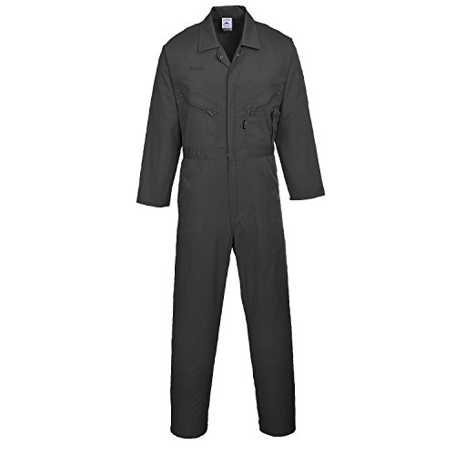 Portwest Liverpool Zip Coverall - Black - XLT -