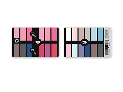 Handlicher Make-up Karten-Farbpass Sommer aus Plastik mit 24 typgerechten Make-up Farben zur...