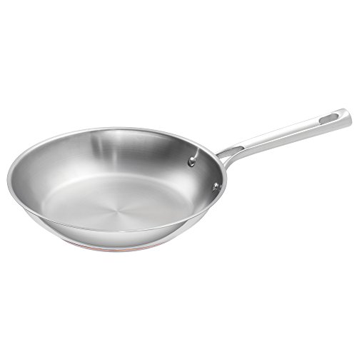 """Emeril Lagasse Stainless Steel Copper Core Fry Pan, 10"""", Silver"""