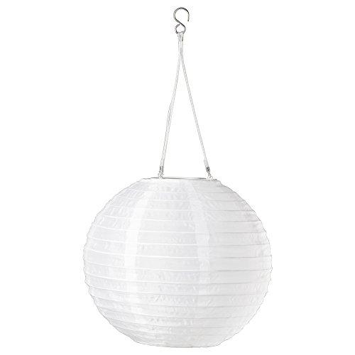 IKEA Solarleuchte SOLVINDEN LED Hängeleuchte Japanballon 3 Farben 2 Größen (Weiß, Ø 30 cm)