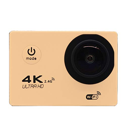 XZYP Wasserdichte Digitale Action-Kamera Mit Touchscreen 4K Hd Video 12Mp-Live-Streaming-Stabilisierung (Sieben Farben),Gold