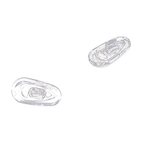 25 Paare Silikon Brillen Nasen Pads Oval Druck auf