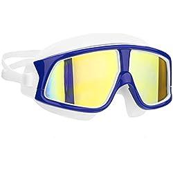 CHMASK Lunettes De Plongée pour Enfants, Haute Définition Anti-buée Imperméable 3D Ergonomique Confortable Swim Goggle Masque pour Garçons Filles (Couleur : Plating 2)