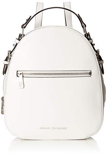 ARMANI EXCHANGE Backpack With Zip - Zaini Donna, Bianco (White), 27x8.5x23.5 cm (B x H T)