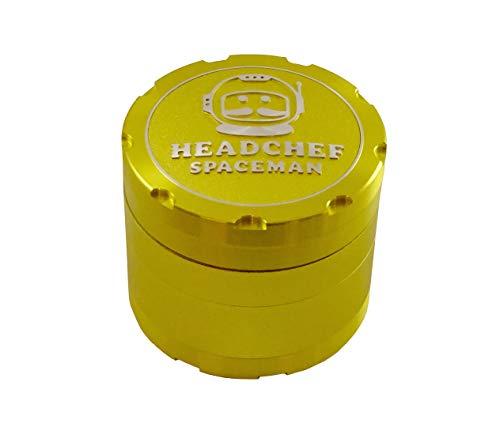 SPACEMAN Headchef 55mm 4Stück Mahlwerk mit Laser Beam Zähne-Plasma Gelb -
