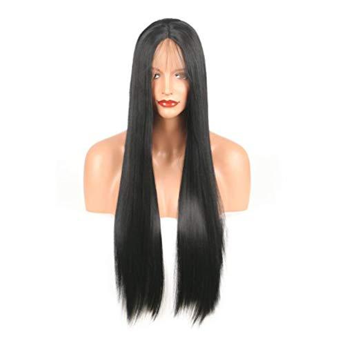 YZ-YUAN Haarteil spitzefrontseitenperücke lang Gerade mit dem Babyhaar für Frauen für Cosplay/Halloween-Party-Kostüm
