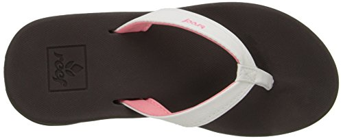 Reef Little Rover Ca, Tongs Fille Marron (Brown/White)