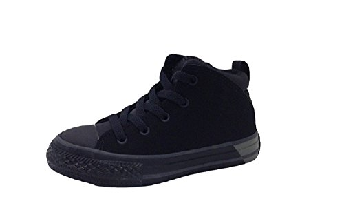 Converse Kids Chuck Taylor All Star Official Ripstop and Nubuck Mid Black/Almost Black
