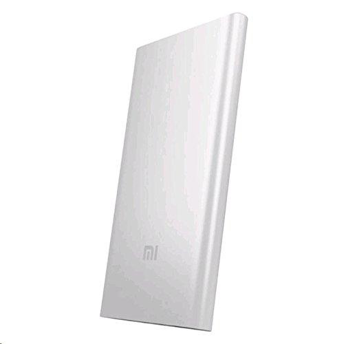 Xiaomi Mi 5000mAh Power Bank (Akku Premium-Ionen Polymer, Schutzhülle Super Dünn 9.9mm) Silber