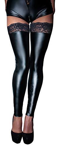 Schwarz Handmade 25402901051Wetlook Sexy Lingerie Kleidung unten mit Schnürung