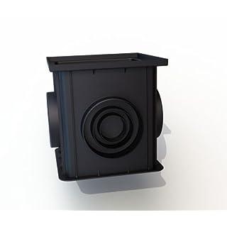 Einlaufschacht, 312 x 312 x 300 mm, schwarz