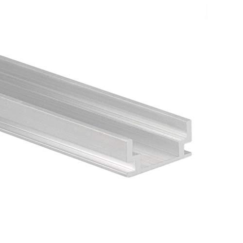 Profi LED Profil für LED Stripes - Serie HR (Alu-Profil Aluminium Montageprofil HR-ALU, begehbar, Alu Natur): LED Band, LED Stripe, LED Strip - hochwertiges Kühlprofilen für LED Lichtband von Isolicht Serie Led-licht