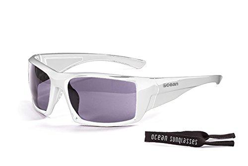 OCEAN SUNGLASSES - Aruba - lunettes de Soleil polarisÃBlackrolles - Monture : Blanc LaquÃBlackroll - Verres : FumÃBlackrolle (3200.2)