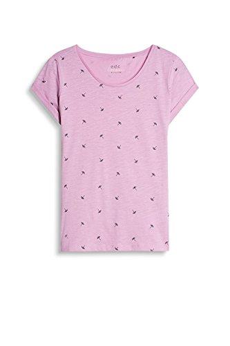 edc by Esprit 037cc1k024, T-Shirt Femme Violet