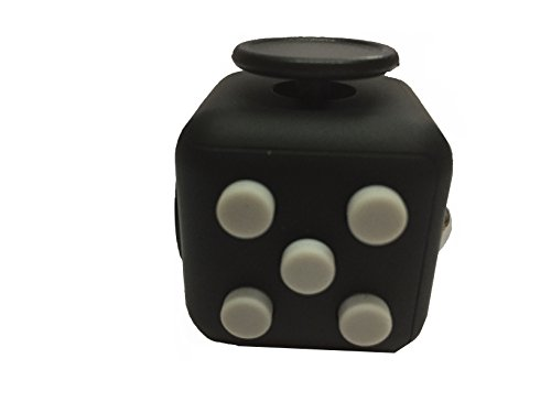 Kayos Anti Stress Fidget Cube, Reduces Stress and Anxiety for Children and Adults, Ideal for ADHD, ADD, OCD and Autism (Black-Grey)