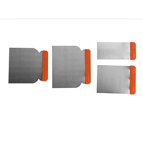 Juego de raspadores 4 piezas Esparcidores de relleno de cuerpo de acero al carbono Herramientas de aplicación de limpieza Hoja de masilla de pintura Reparación portátil Durable