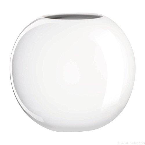ASA 11349005 Ball Vase Keramik 15 x 17,5 x 15 cm, weiß