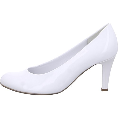 Gabor Shoes Damen Basic Pumps, Weiss (+Absatz) 71, 40.5 EU - Leder Pumps