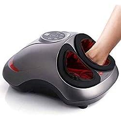 INTEY Appareil Massage Pied, 6 en 1 Multifonctions Masseur Pieds Shiatsu Chauffant | Electrique | 5 Niveaux de Pression d'Air + Pétrissage + 30min Minuterie | Ergonomique | Léger, Maison ou Bureau