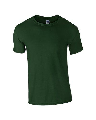 Gildan -  T-shirt - Uomo Vert - Forêt