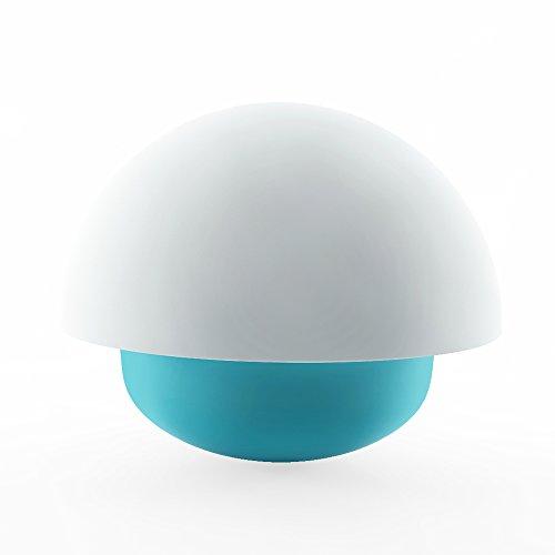 Luce di Notte di Tocco Della Lampada LED Guardrail a Forma di Fungo con Successione colore 3 modalità di Funzionamento per il Campeggio o Dormitorio per adulti Bambini (Blu)