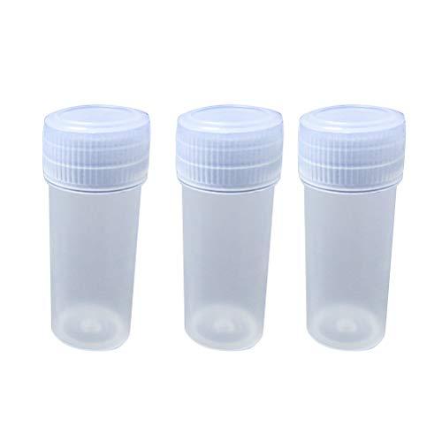 SUPVOX 100 Stücke Kunststoff Röhrchen mit Deckel Durchsichtige Reagenzglas Vorratsbehälter 5 ml