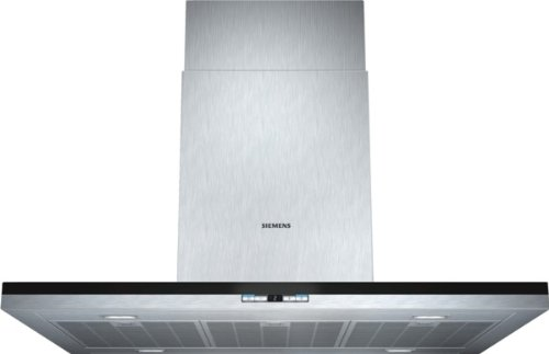 Siemens LF98BC542 iQ500 Inselhaube/90 cm/Wahlweise Abluft- oder Umluftbetrieb/Metall-Fettfilter, spülmaschinengeeignet/edelstahl