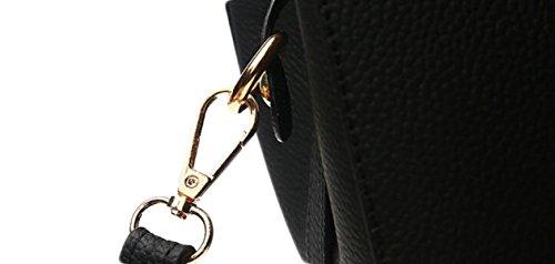 La Signora Mamma Di Mezza Età Della Borsa Della Borsa Messenger Bag Semplice Spalla Mano Trasportare Grande Sacco Di Regali Di Natale Pink