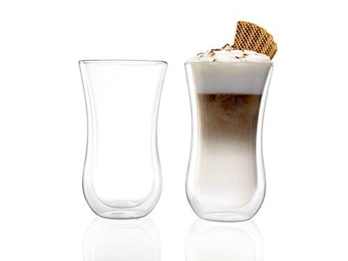 Stölzle Lausitz Kaffeegläser und Teegläser Coffee 'N More, 330 ml, Gr. XL, 2er Set, Thermobecher, universell einsetzbar, für Heiß- und Kaltgetränke, mundgeblasen, isolierend, spülmaschinenfest