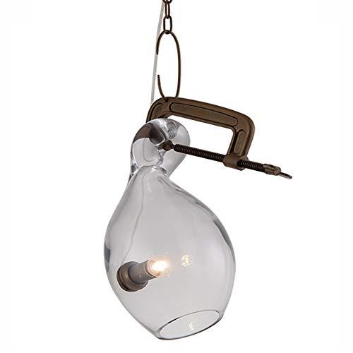 QB Bubble Kronleuchter Weinglas Pendelleuchte kreativ geformte Lampe Schmiedeeisen Decke Klarglas...