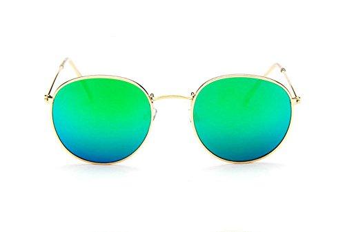 Vikenner Damen Herren Sonnenbrille Dekorative brille ohne sehstärke Brille Lichtschutzbrille Arbeitsplatzbrille blaulichtfilter Brille SilberrahmenGrün