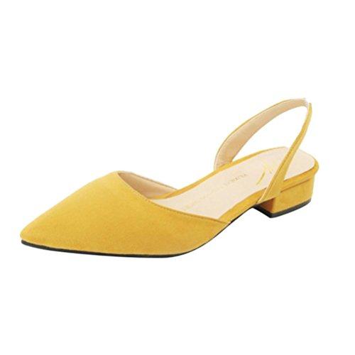 OYSOHE Damen Schuhe, Frauen Pumpen Knöchelriemen Starke Ferse Spitzschuh Mittlere Fersen Bequeme Schuhe (Mittlere Keile Schuhe Für Frauen)