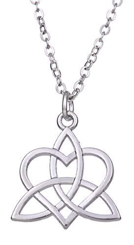 fishhook Colgante de Anzuelo Celta Triquetra Amor Nudo Trinidad Amuleto talisman para Collar de Amor Eterno