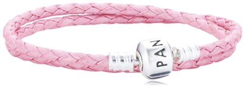 Pandora Damen-Armband Leder rosa doppelt gewickelt 35 cm 590705CMP-D1 (Leder Leder-gewickelt 9)