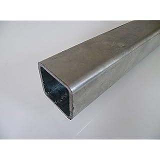 B&T Metall Stahl Vierkantrohr VERZINKT 40 x 40 x 2 mm in Längen à 1500 mm +0/-3 mm Quadratrohr ST37 feuerverzinkt Hohlprofil Rohstahl