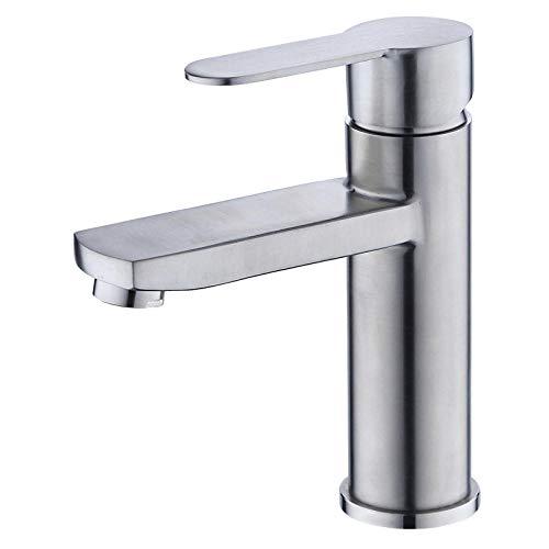 Waschtischarmaturen Küchenarmaturen Waschraumarmaturen Becken Wasserhahn_304 Edelstahl Quadratischen Becken Heißen Und Kalten Einlochmontage Bad Waschbecken Wasserhahn