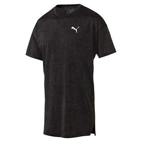 PUMA Herren Energy SS Tee T-Shirt, Black Heather, XL