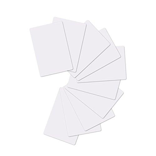 100 x Blank Weiß PVC Plastik Karten CR-80 30mil Kompatibel Mit ID Karten Drucker Von Timeskey NFC
