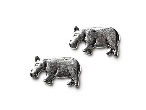 Hippo Cufflinks, Business Gift, Wedding Present, Gift Box
