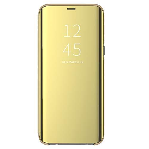 Kompatibel mit Samsung Galaxy Note 8 Hülle Spiegel Cover Clear View Case Flip Schutzhülle handyhülle handyhuelle etui huelle Flip metallic Tasche Ledertasche Shell (3, Samsung Galaxy Note 8)