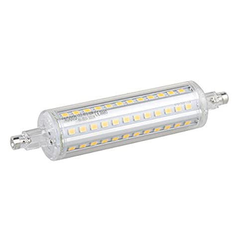 AGOTD R7S Ampoules à LED 10W 118mm, 75W Halogène Flood Light Equivalent, Blanc Chaud 3000K, Lampe r7s led, Culot r7s ,85V-265V AC, 25 X 118mm, Angle à 360 °, 1000Lm, CRI> 82