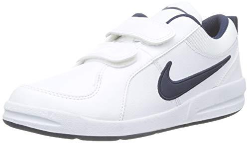 Nike Unisex-Kinder PICO 4 (PSV) Low-Top, Weiß (White/Midnight Navy), 34 EU (Schuhe Günstige Nike Kinder)
