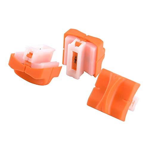 LETION A4 Papierschneider, Papierschneidemaschine mit automatischem Sicherheitsschutz, Scrapbooking-Werkzeug zum Schneiden von Papier, Fotos oder Etiketten, Büro zu Hause, Orange