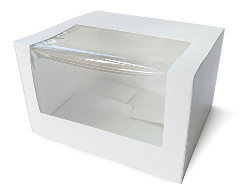 E BOXEN BIO Geschenk-Boxen mit Sichtfenster (Muffin Box/ Gift Box / Schachtel / Aufbewahrungsbox) Zur Aufbewahrung für Gastgeschenke zu jedenm Anlass: für selbstgemachtes Weihnachtsgebäck, Weihnachtsgeschenke, zur Hochzeit, Taufe, Geburtstag, Muttertag, Ostern • Flach liegend geliefert, faltbar • Format: Länge 13cm x Breite 11cm x Höhe 8cm (Großhandel Kuchen-boxen)