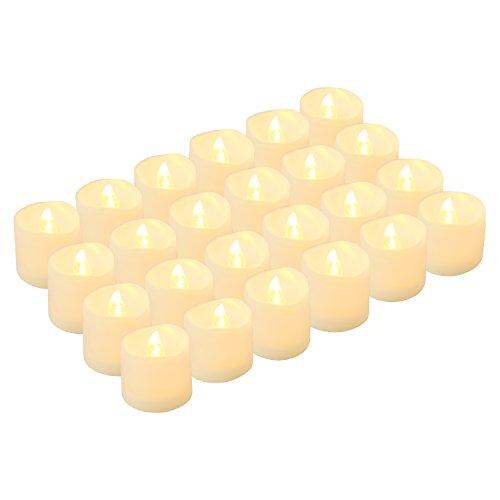 LED Teelichter Flammenlose Kerzen, Kohree 24 batteriebetriebene flackernde Kerzen, warmes Weiß