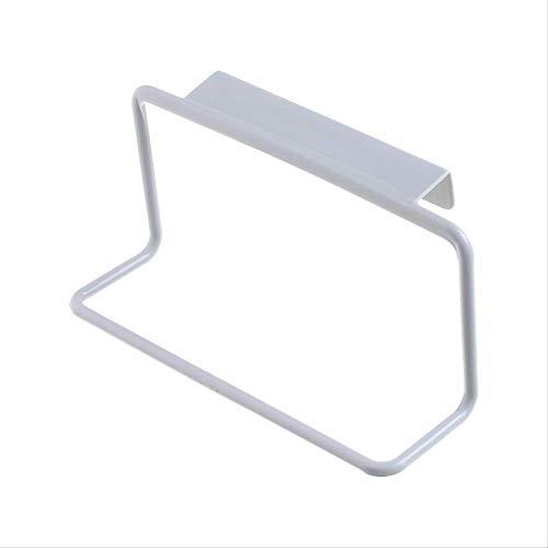 Afht cucchiaini da cucina in plastica, rack da bagno, rack, armadi sospesi, portasciugamani a barra singola con porta posteriore 2 rack a parete